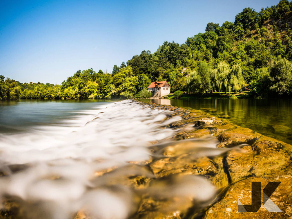 One of more than 50 dams on the Kolpa river in Slovenia