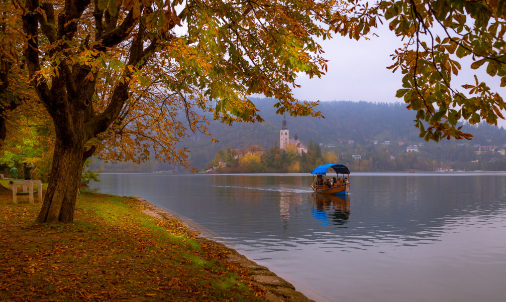 Lake Bled, Slovenia in autumn