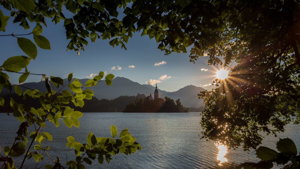 Bled Island, also known as the Fairytale Island, Lake Bled, Slovenia
