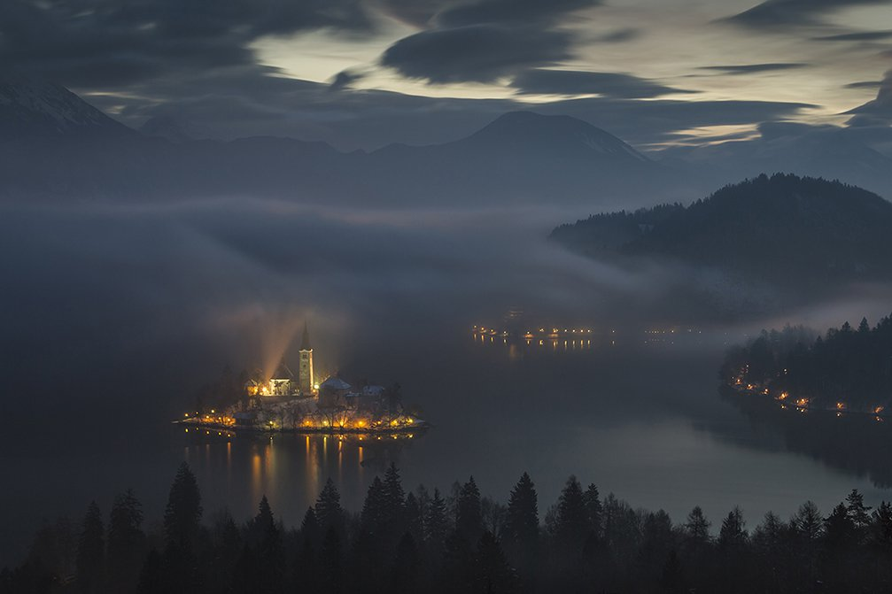 Dramatic view of Lake Bled, Slovenia