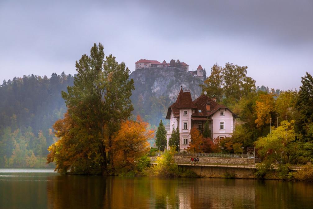 Vila Istra design hotel below Bled Castle, Slovenia