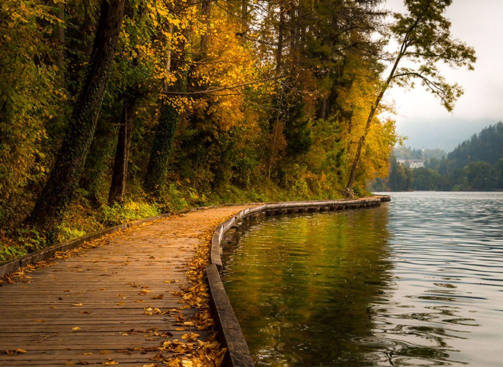 Lake Bled walkway, Slovenia