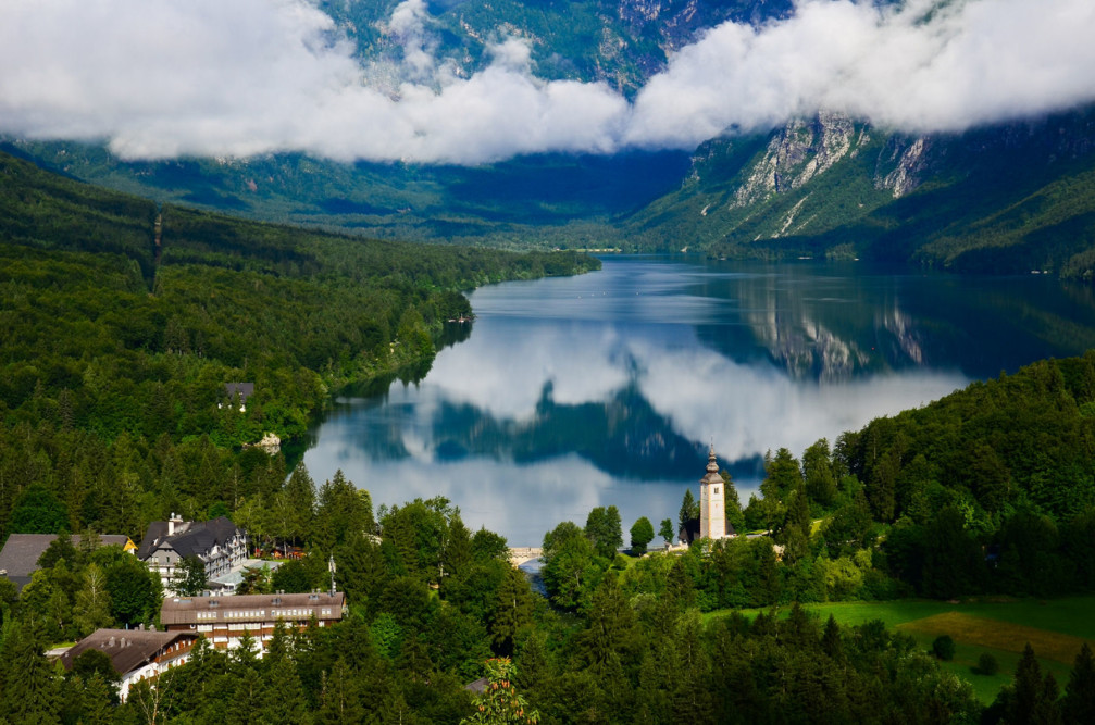 Absolutely incredible view of Lake Bohinj from the Pec Viewpoint