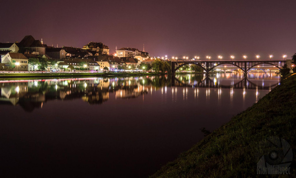 Night view of the city of Maribor, Slovenia