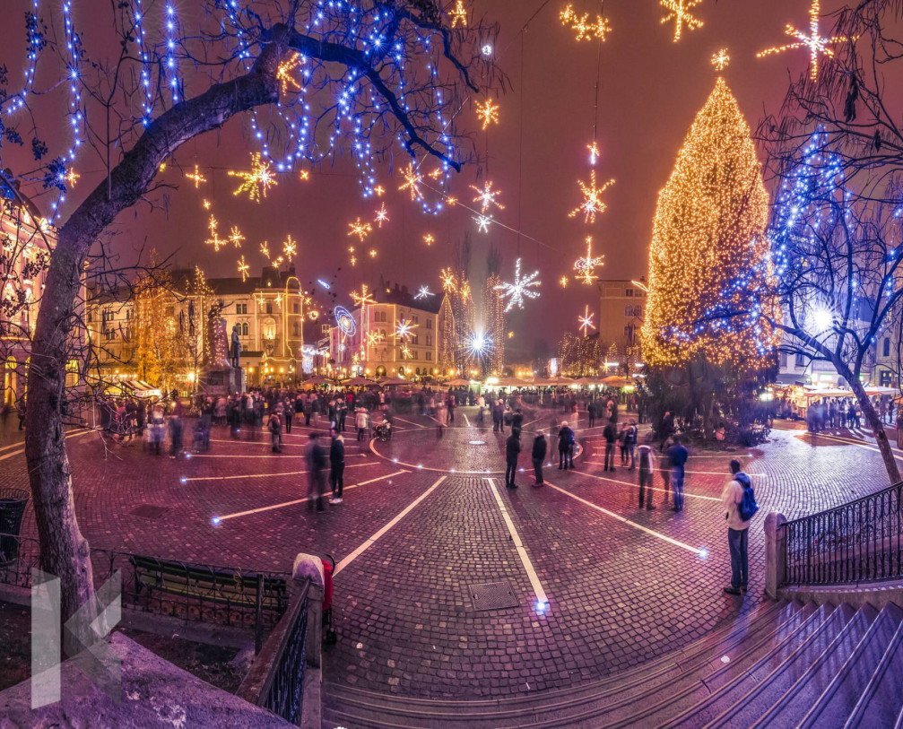 Ljubljana, the capital city of Slovenia is an amazing place for Christmas lights and decorations