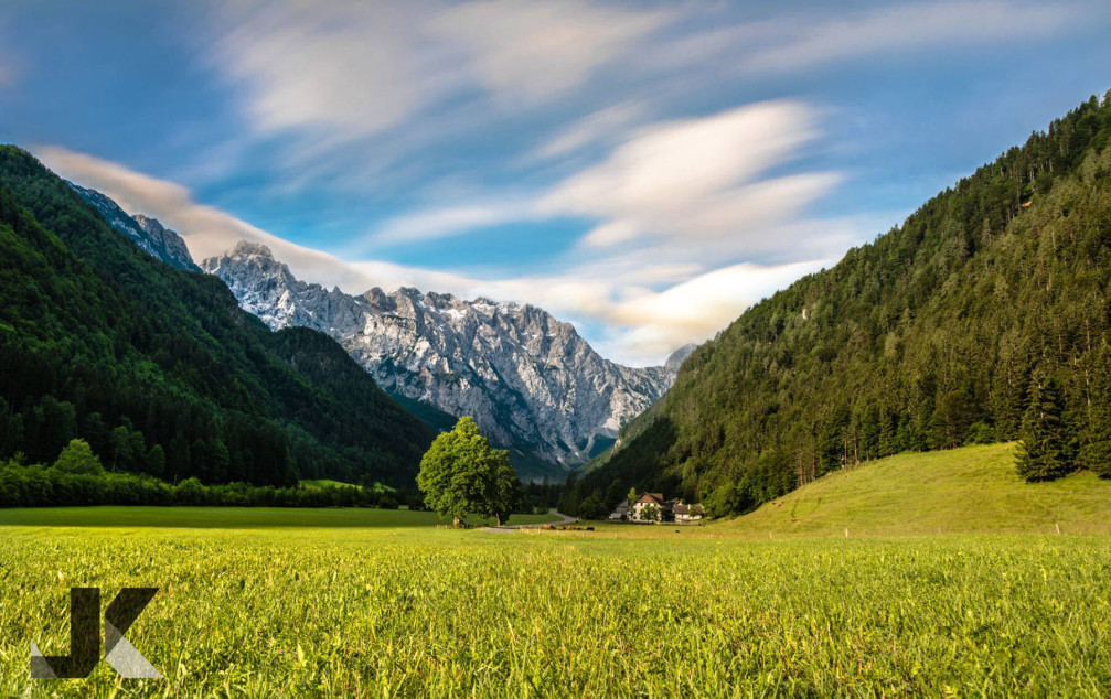 The beautiful Logar Valley in Slovenia