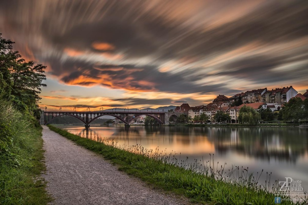 The Old Bridge over the river Drava in Maribor, Slovenia