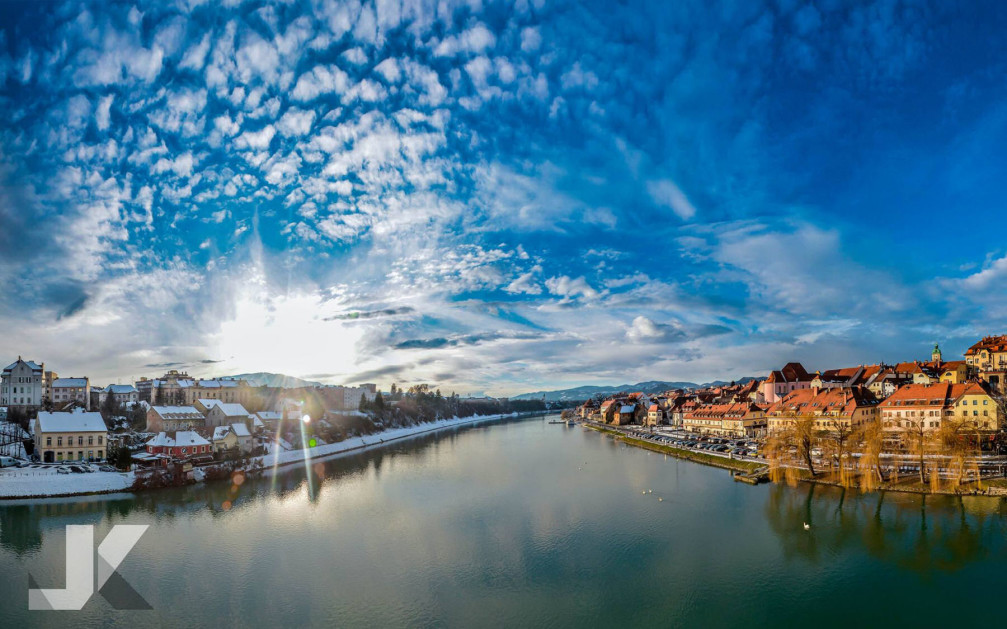 Maribor, the capital of the Styria region of Slovenia, lies on the Drava river