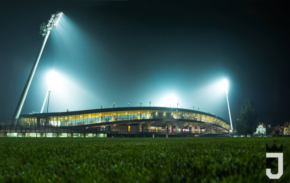 Ljudski Vrt stadium in Maribor, the capital of the Styria region of Slovenia