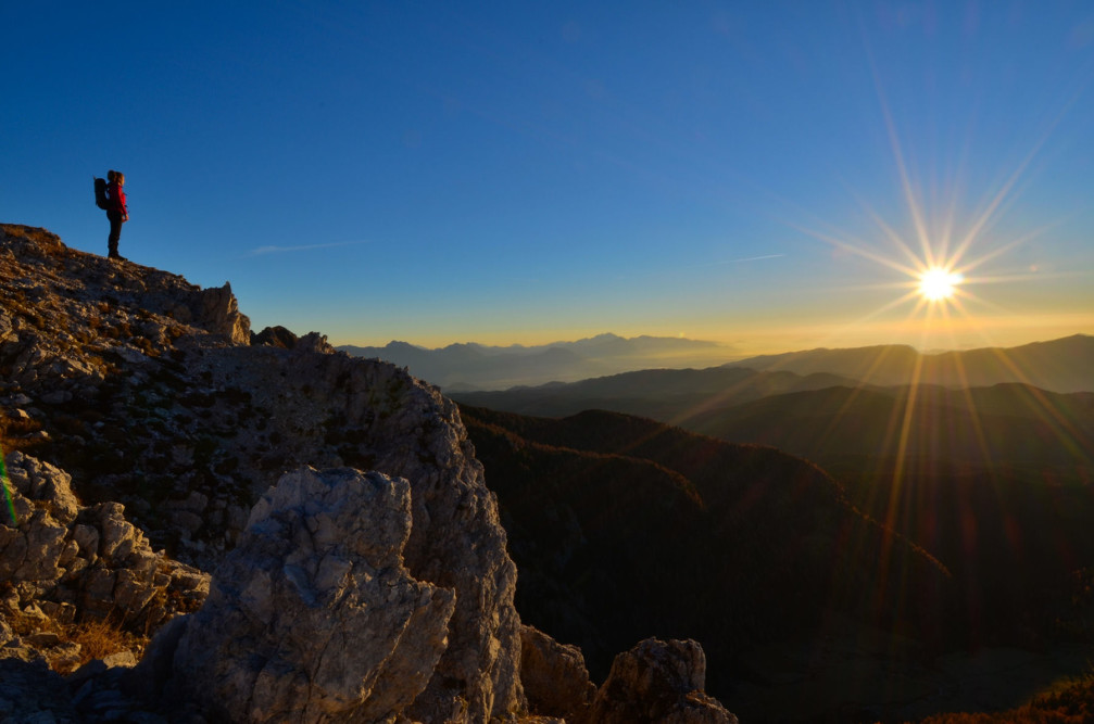 A beautiful sunrise captured from Mt Ablanca, Julian Alps, Slovenia