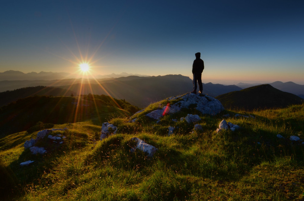A beautiful sunrise captured from Mt Mozic, Julian Alps, Slovenia