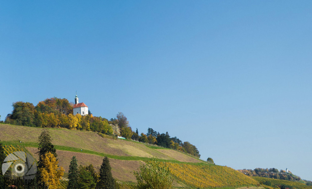 Church of St Barbara on the Kalvarija hill above Maribor, Slovenia