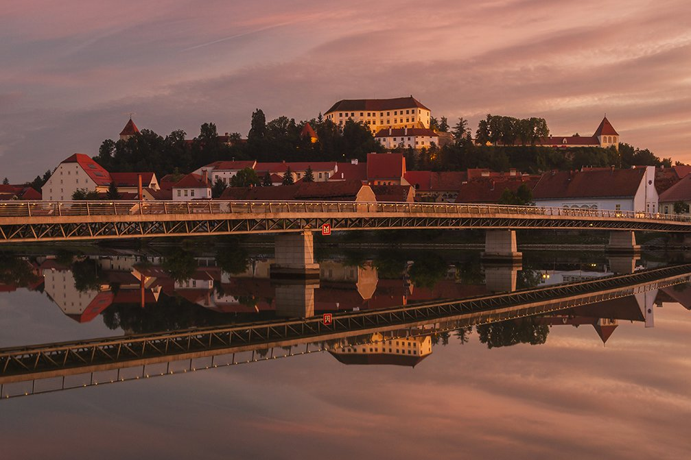 Beautiful view of Ptuj, the oldest town in Slovenia