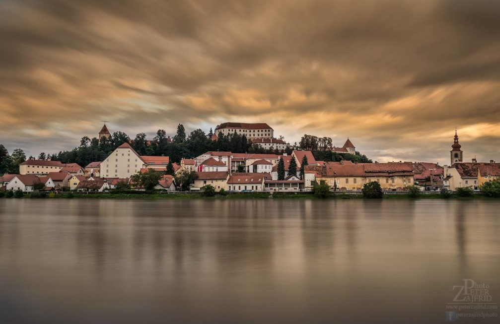 Ptuj, a charming historic town in the Styria region of Slovenia on the Drava River