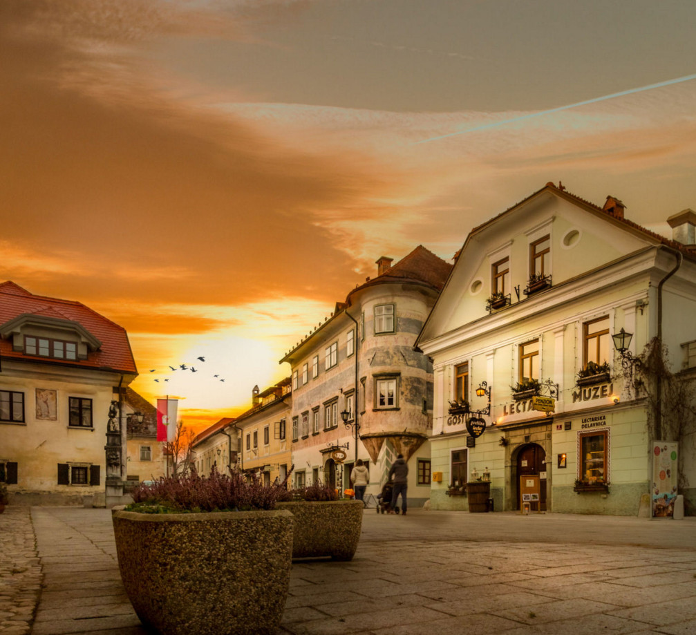 Radovljica's medieval Old Town is one of best preserved medieval town structures in Slovenia