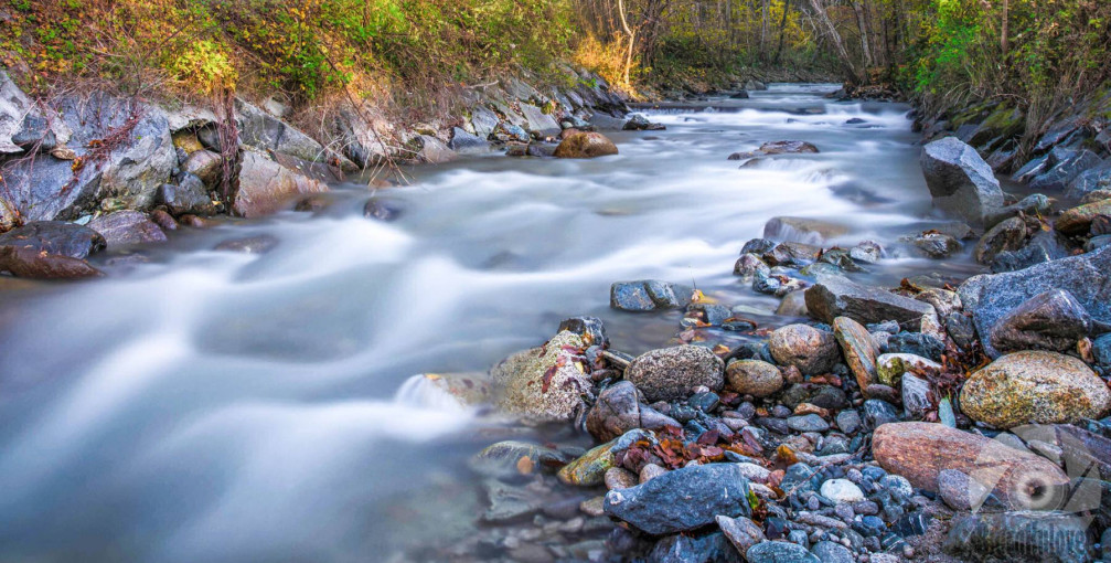 Beautifully captured stream near the village of Ruse, Slovenia