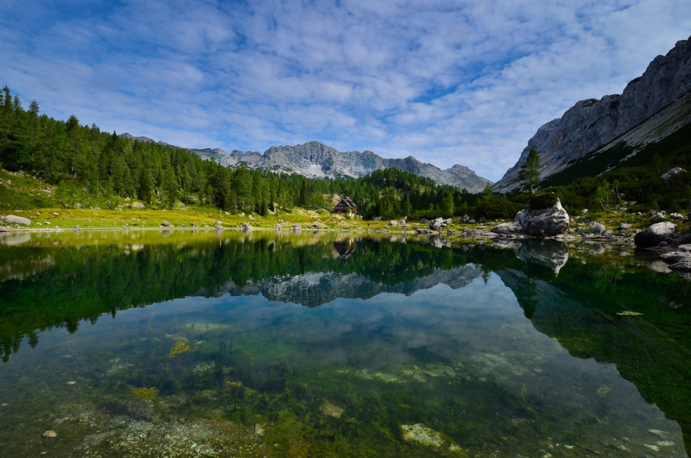 Double Lake in the Valley Of The Seven Lakes in Triglav National Park, Slovenia