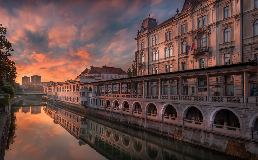 Ljubljanica River is the main river that runs through Slovenia's capital Ljubljana