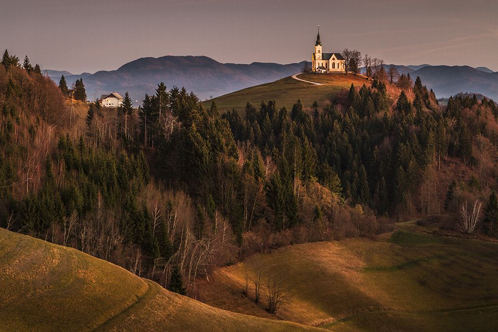 Church of St. Leonard on the Church Hill near the Crni Vrh village, Slovenia