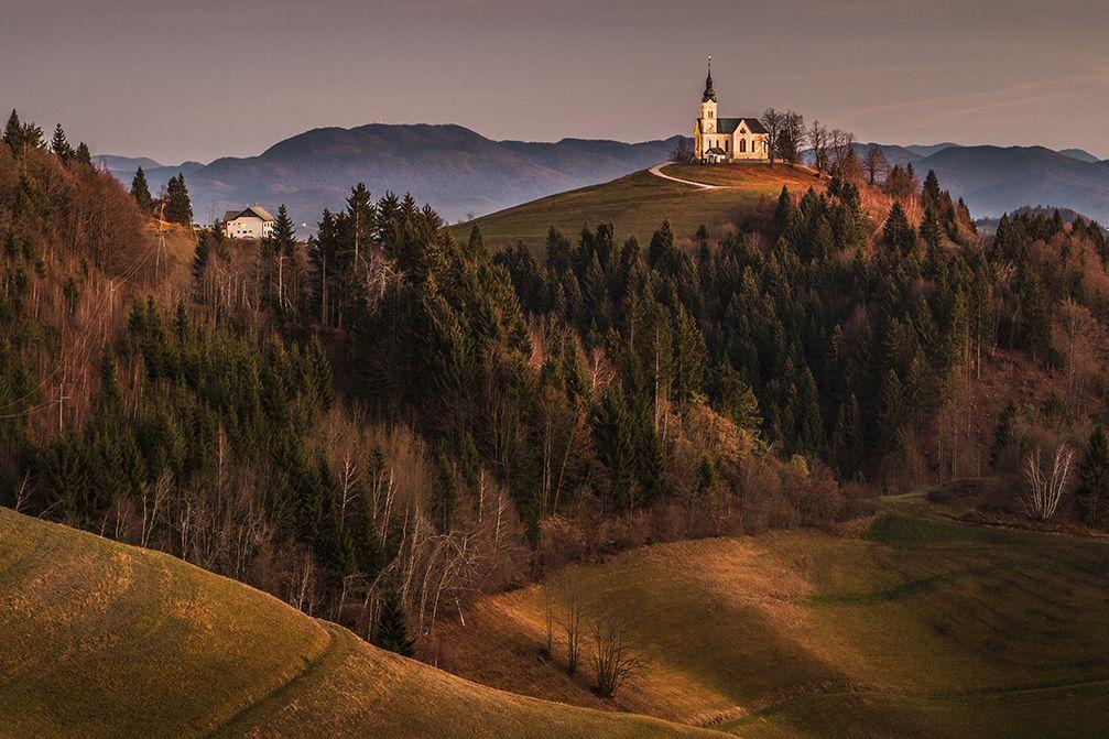 Church of St. Leonard on the Church Hill near the Crni Vrh village, Slovenia