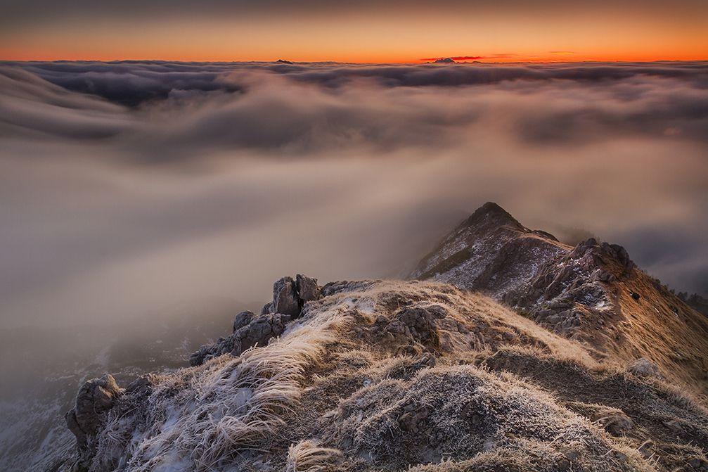 Visevnik is a 2,050 meter high mountain peak in the Julian Alps, Slovenia