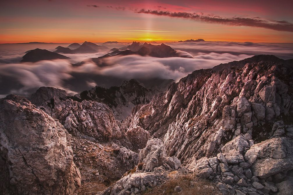 Mt. Vrtaca, the second highest mountain peak in the Karavanke mountain range, Slovenia