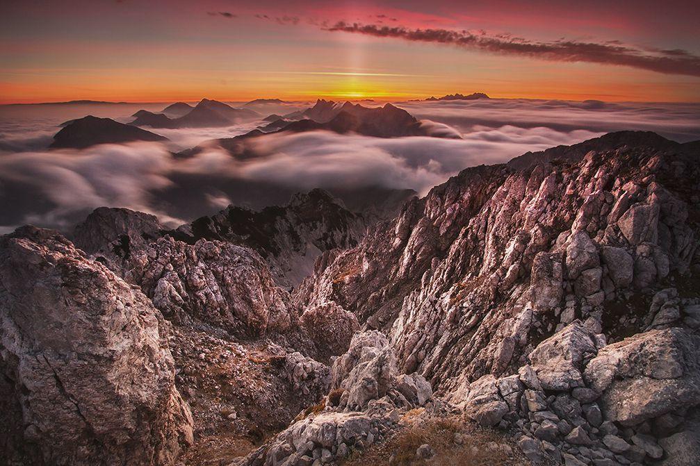 Mt. Vrtaca, the second highest mountain peak in the Karavanke mountain range, Slovenia