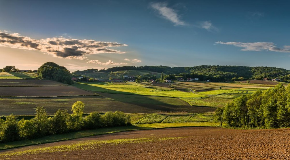 The countryside of Slovenian Styria near the village of Zimica, southeast of Maribor