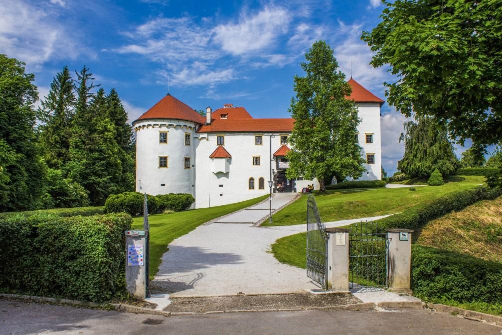 The Renaissance-style Bogensperk Castle built at the beginning of the 16th century, Slovenia