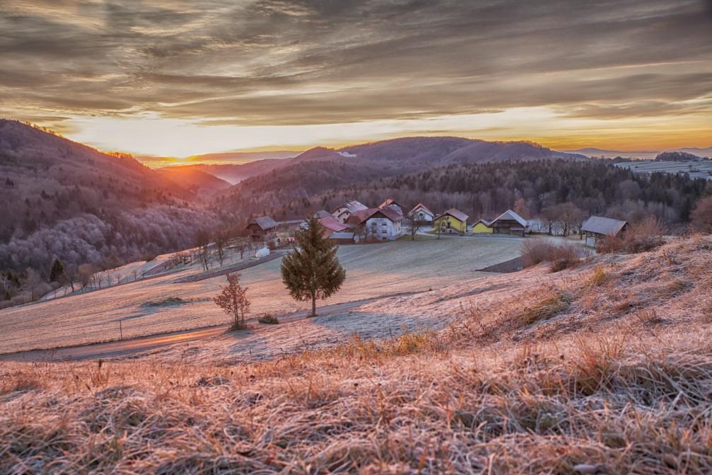 Picturesque village of Ceplje in the Municipality of Litija in central Slovenia