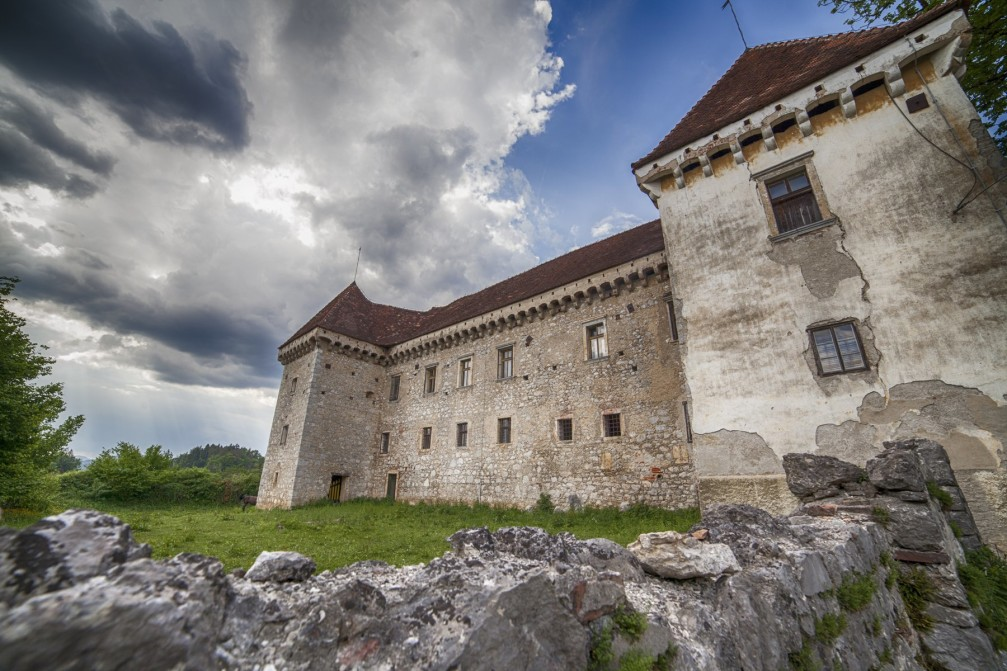 Krumperk Castle, a fine example of a Renaissance manor in the village of Gorjusa, Slovenia