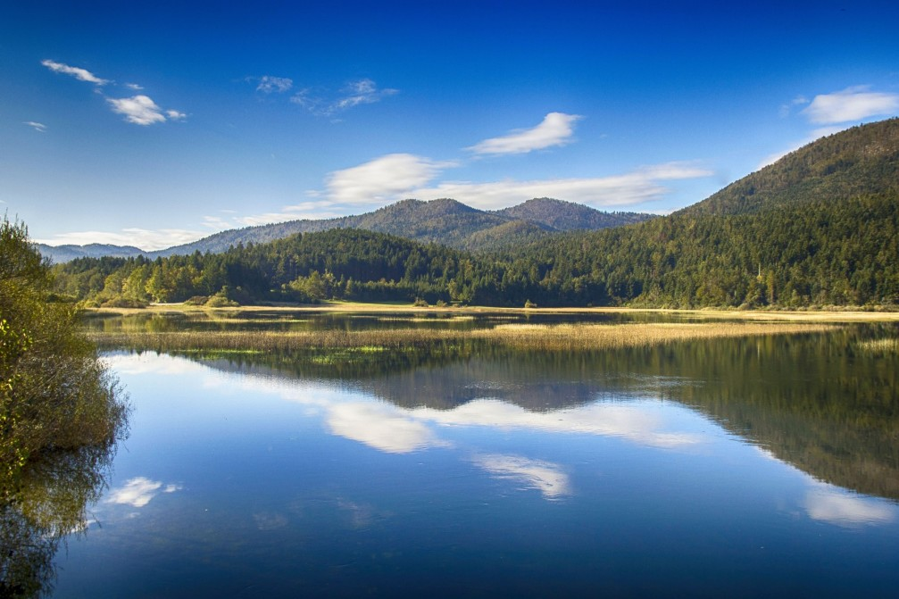 Lake Cerknica, the largest intermittent lake in Slovenia
