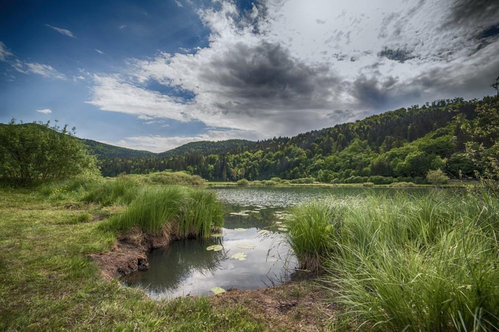 Podpec Lake lies on the outskirts of Ljubljana, Slovenia