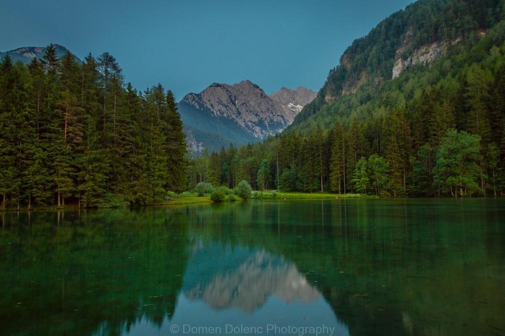 Lake Plansarsko Jezero in Jezersko, Slovenia