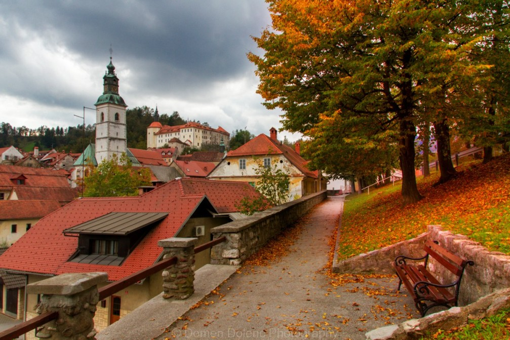 Charming little town of Skofja Loka, one of the oldest towns in Slovenia