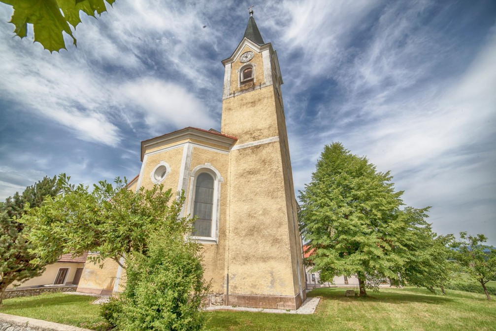 Church of St. Ulrich in the village of Veliki Gaber, Slovenia
