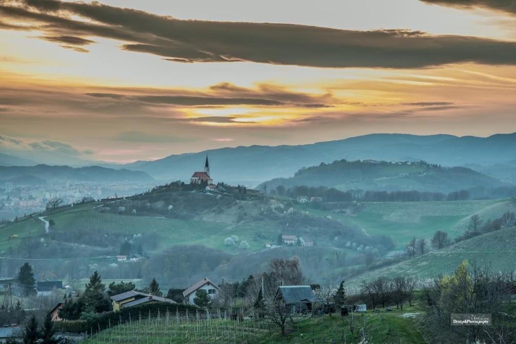 Subsidiary Church of the Virgin Mary on the Gorca hill above Malecnik, east of Maribor, Slovenia