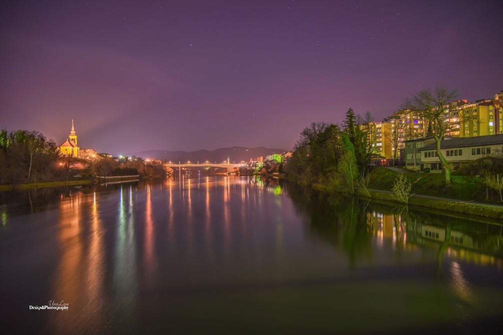 Carinthian Bridge over the Drava river in Maribor, Slovenia