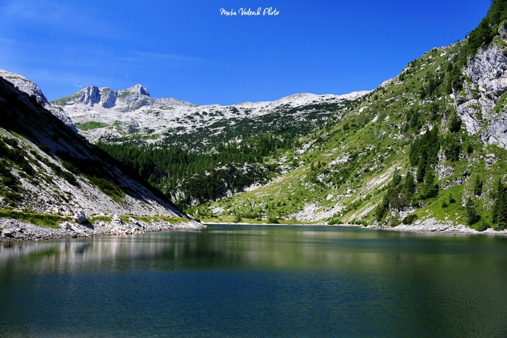 Lake Krn a.k.a. Krnsko Jezero is located in the Triglav National Park, Slovenia