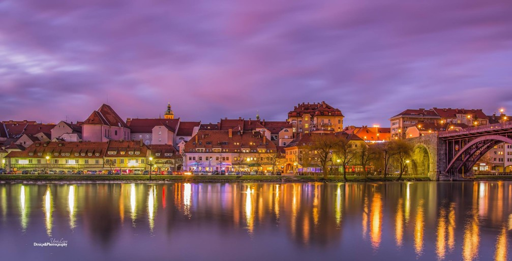 The Lent district in Maribor, Slovenia