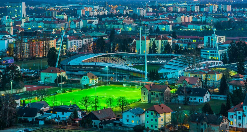 Ljudski Vrt stadium in Maribor, Slovenia