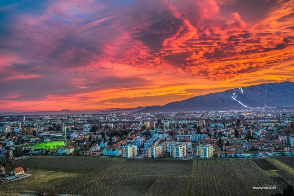 View of Maribor, the second largest city in Slovenia