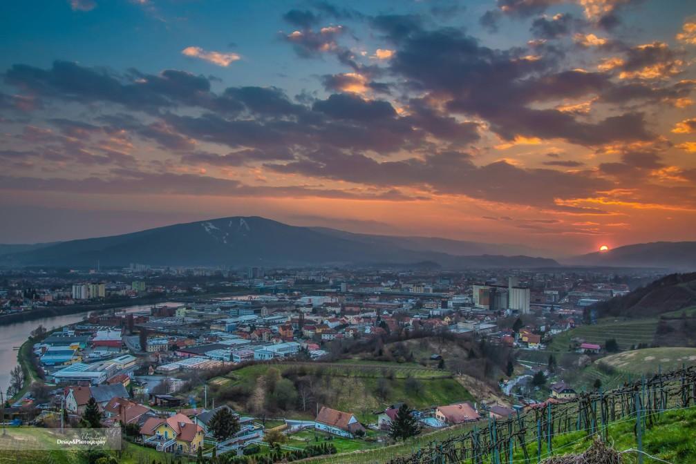 View of Maribor, the capital of the Stajerska region of Slovenia