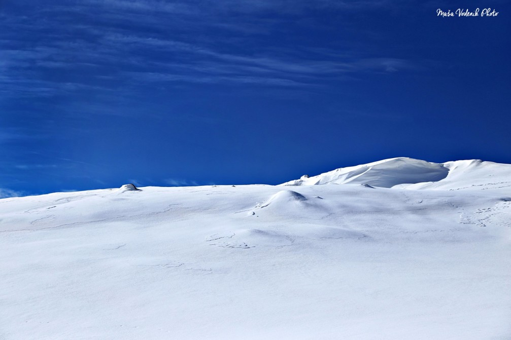Ratitovec, the southeastern-most mountain in the Julian Alps, Slovenia