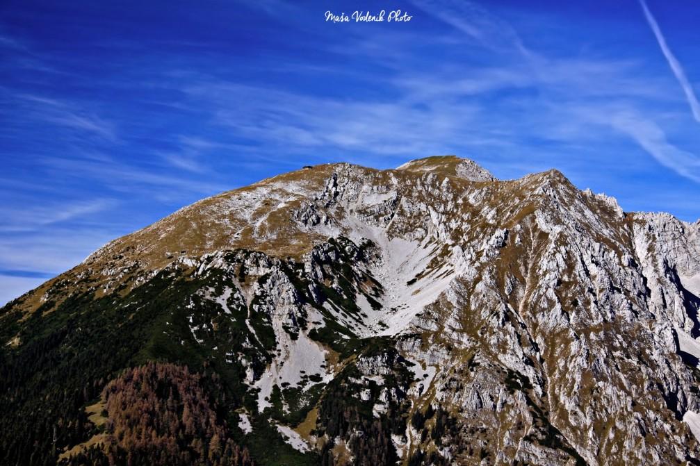 Stol or Hochstuhl as seen from Roblek, the highest peak of the Karawanks mountain range, Slovenia