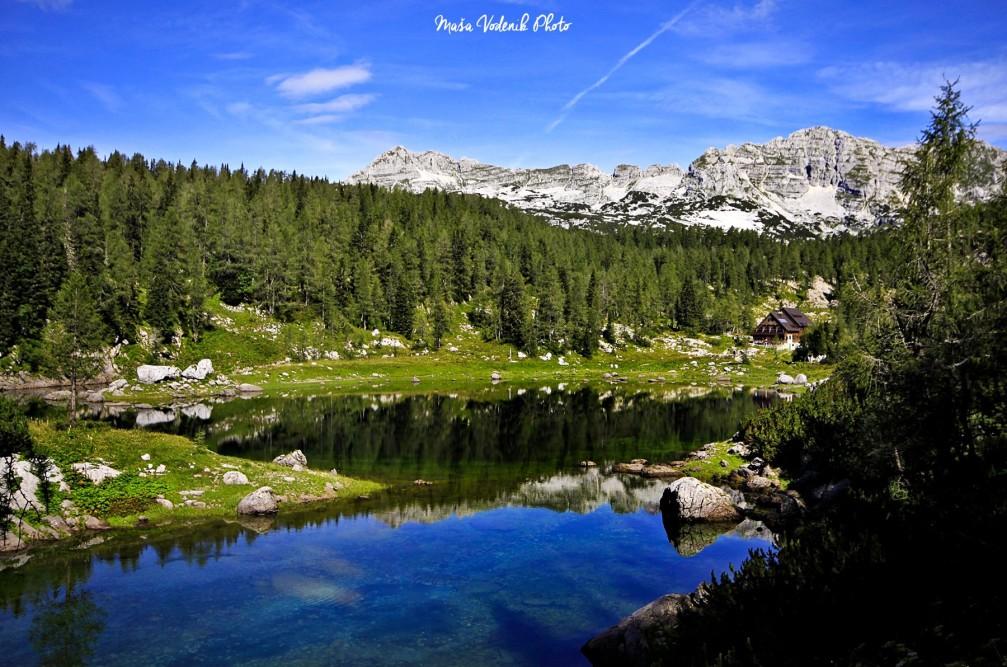 Koca Pri Triglavskih Jezerih mountain lodge nestled in the Triglav Lakes Valley in the Julian Alps