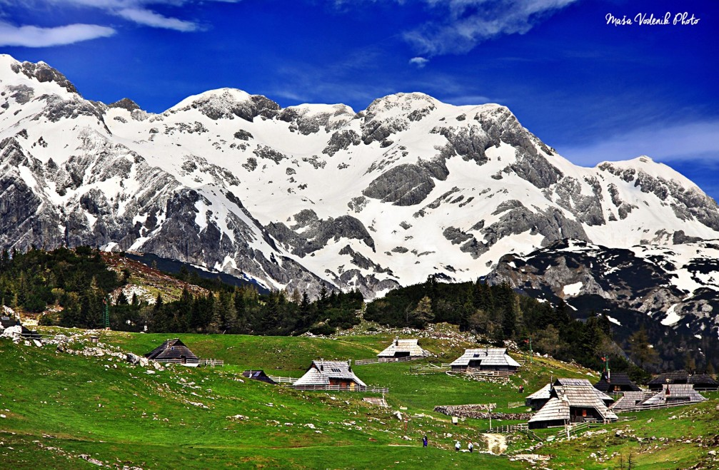 The unique Velika Planina herdsmen's huts in the heart of the Kamnik-Savinja Alps, Slovenia