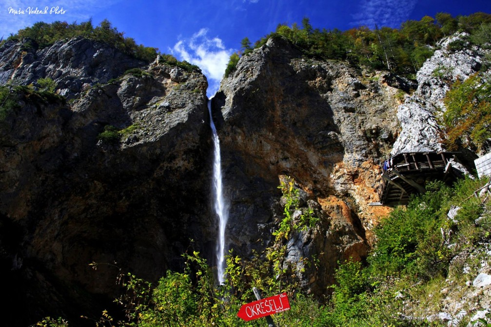 Waterfall Rinka above the Logar Valley is the second highest waterfall in Slovenia