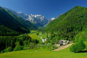 Logar Valley in the Kamnik Savinja Alps, Slovenia