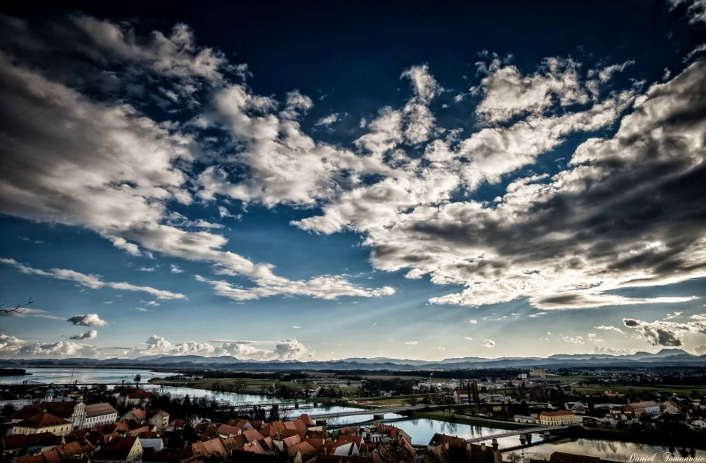 A view across the town of Ptuj, Slovenia